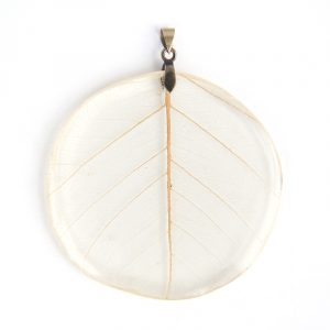 leaf veins round, resin pendant, www.Fenne.be
