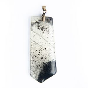 Black and white art pendant, statement jewelry, handmade jewelry, www.Fenne.be