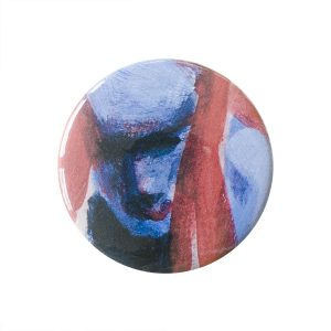Fenne Kustermans Illustration. Button pin badge with print. Printmaker. www.Fenne.be