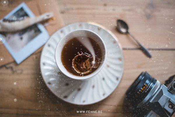 Tea time, digital overlay analog film for photoshop